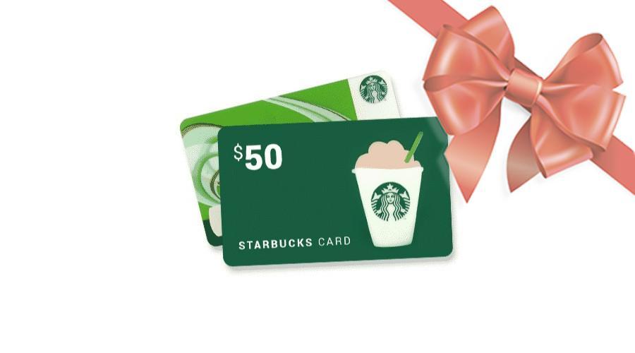 Win $100 Starbucks Gift Cards!
